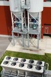 Una vuelta más fresca de la fan en bio planta de gas del biogás industrial Fotografía de archivo libre de regalías