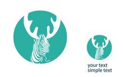 Una zebra con i corni royalty illustrazione gratis