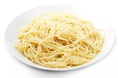 Una zolla con spaghetti Fotografia Stock