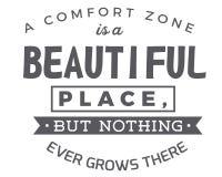 Una zona de comodidad es un lugar hermoso, pero nada crece nunca allí ilustración del vector
