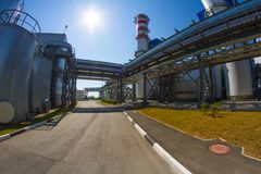 Una zona industriale immagini stock