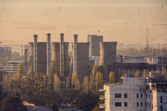 Una zona industriale Fotografia Stock
