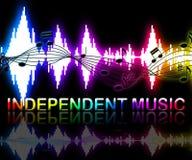 Unabhängige Musik zeigt Tonspuren und Indie vektor abbildung