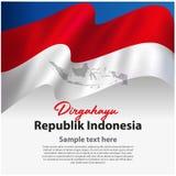 Unabhängige Tagesfahne Indonesiens lizenzfreies stockfoto