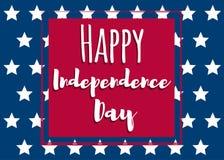 Unabhängigkeit day-01 stock abbildung
