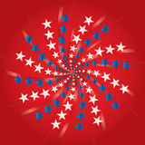 Unabhängigkeit day_fireworks Stockbild