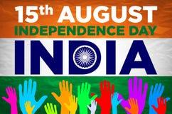 Unabhängigkeit Day Indien 15. des herrlichen Vektors Lizenzfreies Stockfoto