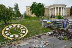Unabhängigkeit quadratisches (Maidan Nezalezhnosti) afer die Revolution, Kiew, Ukraine Lizenzfreie Stockfotos