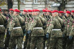 Unabhängigkeit von Polen Stockbild