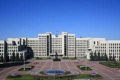 Unabhängigkeitquadrat in Minsk stockfoto