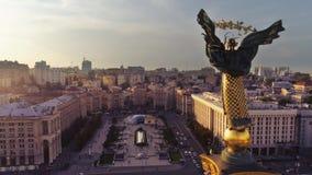 Unabhängigkeits-Monument Berehynia Kyiv lizenzfreies stockfoto