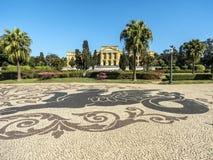 Unabhängigkeits-Park und Museu Paulista der Universität von Sao Paulo lizenzfreie stockbilder
