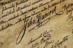 Unabhängigkeitserklärung Lizenzfreies Stockbild