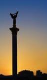 Unabhängigkeitsquadrat bei Sonnenuntergang Lizenzfreie Stockfotos