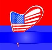 Unabhängigkeitstag-Auslegung. USA-Kartenauslegung Stockfotos