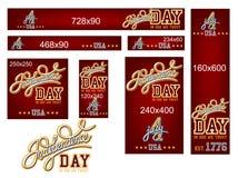 Unabhängigkeitstag-Fahnen-Satz Lizenzfreies Stockfoto