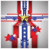 Unabhängigkeitstag feiern Hintergrund Lizenzfreies Stockbild
