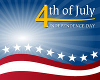 Unabhängigkeitstag-Hintergrund Stockbild