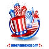 Unabhängigkeitstag-Hintergrund im Kreis - Vektor Lizenzfreie Stockfotografie