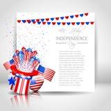 Unabhängigkeitstag-Hintergrund mit Papier - Vektor Lizenzfreies Stockbild