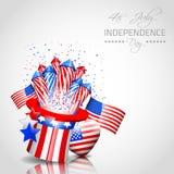 Unabhängigkeitstag-Hintergrund - Vektor Stockfoto