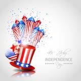 Unabhängigkeitstag-Hintergrund - Vektor Stockbild