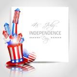 Unabhängigkeitstag-Hintergrund - Vektor Lizenzfreies Stockfoto