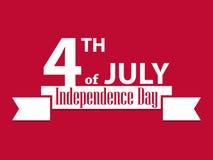 Unabhängigkeitstag Juli 4 Patriotische Grußkarte, US-Feiertag Vektor Stockfoto