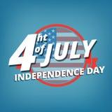 Unabhängigkeitstag Juli 4., USA Die Logounabhängigkeitstag Vereinigten Staaten von Amerika Lizenzfreies Stockbild