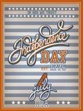 Unabhängigkeitstag-Plakat Stockfotos