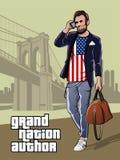 Unabhängigkeitstag-Plakat-moderner Präsident von den Vereinigten Staaten von Amerika vektor abbildung