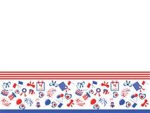 Unabhängigkeitstag, Rand Lizenzfreies Stockfoto