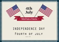 Unabhängigkeitstag in USA Stockfotografie