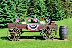 Unabhängigkeitstag, Viertel von Juli, die Vereinigten Staaten von Amerika Lizenzfreies Stockbild