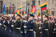Unabhängigkeitstag in Vilnius Stockfoto