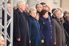 Unabhängigkeitstag in Vilnius Stockfotografie