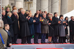 Unabhängigkeitstag in Vilnius Stockbild