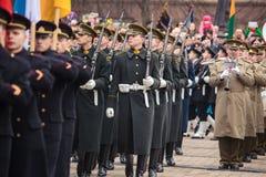 Unabhängigkeitstag in Vilnius Stockfotos