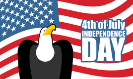 Unabhängigkeitstag von Amerika Adler und USA-Markierungsfahne Rene im Geschirr Lizenzfreies Stockbild