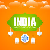Unabhängigkeitstag von Indien Lizenzfreie Stockbilder