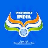 Unabhängigkeitstag von Indien Stockbild