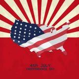 Unabhängigkeitstag von Juli Stockfotografie