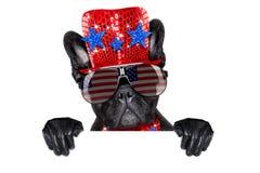 Unabhängigkeitstag 4. von Juli-Hund Lizenzfreie Stockfotografie