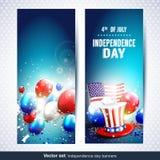 Unabhängigkeitstagfahnen - Vektorsatz Lizenzfreies Stockfoto
