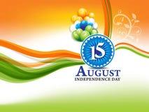 Unabhängigkeitstaghintergrund des Inders am 15. August Lizenzfreie Stockfotografie