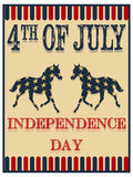 Unabhängigkeitstagplakat Stockfoto