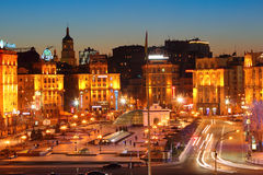 Unabhängigkeits-Quadrat in Kiew Stockfotografie