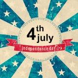Unabhängigkeitstagaufkleber Stockbilder