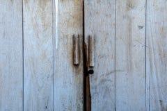 Unable lock vintage door.  stock photography
