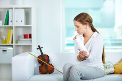 Unable violinist Royalty Free Stock Image